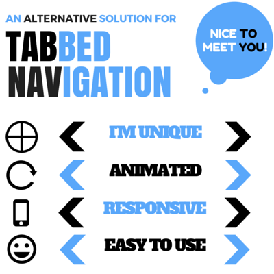 Wheelizate Tabs - An alternative solution for tabbed navigation